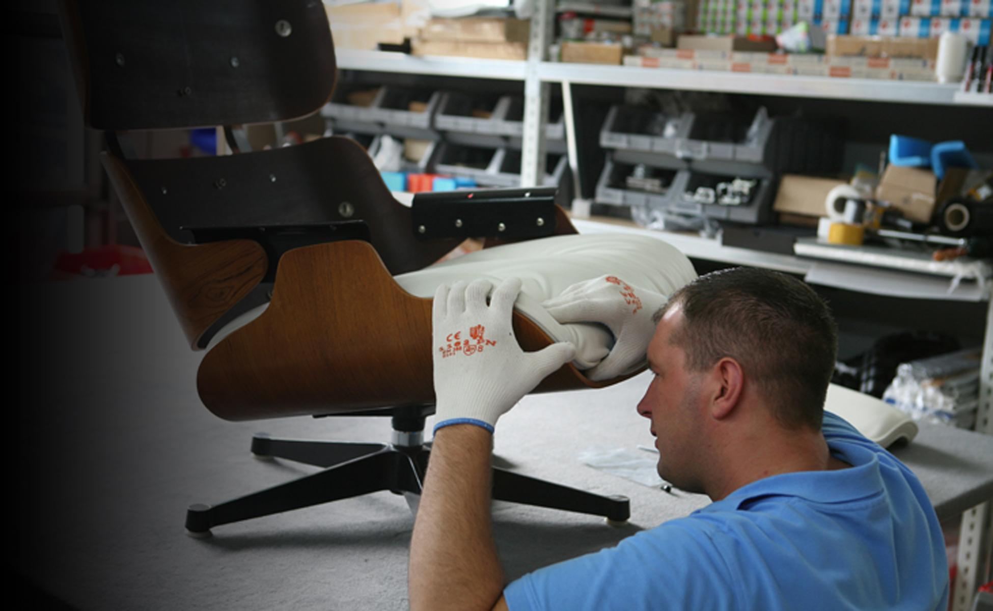 Reparatur vitra eames lounge chair ersatzteile berlin for Kopie eames chair