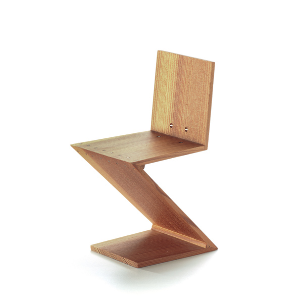 zig zag stoel gerrit thomas rietveld, 1934 vitra miniatures collection