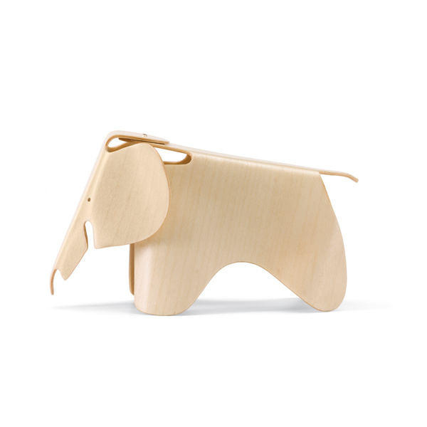 vitra miniatures collection plywood elephant natur eames 1945