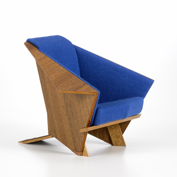 vitra miniatures collection taliesin west armchair, frank lloyd wright, 1946