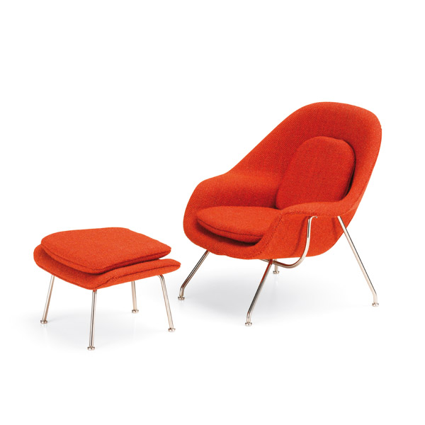 vitra miniatures collection womb chair ottoman saarinen 1948