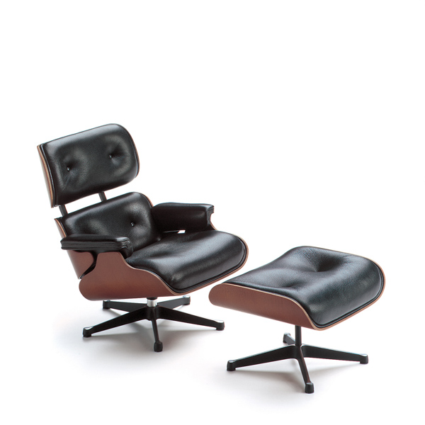 lounge chair and ottoman charles & ray eames, 1956 vitra miniatures collection