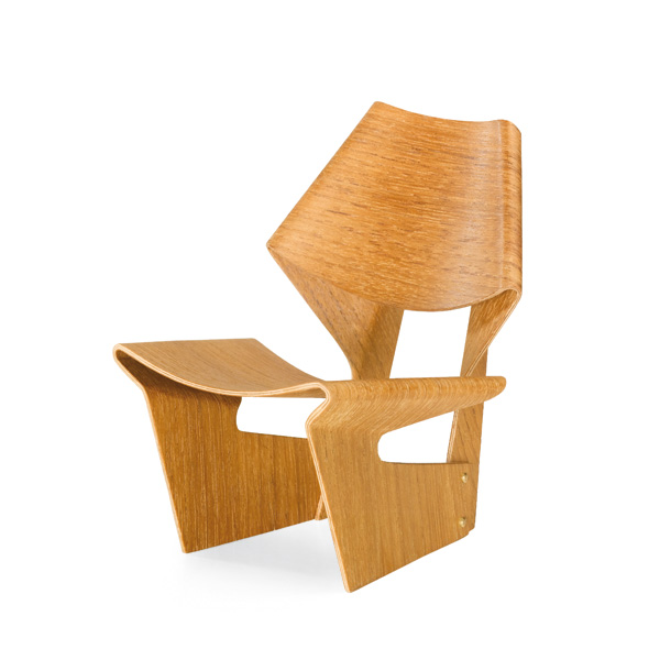 laminated chair grete jalk, 1963 vitra miniatures collection