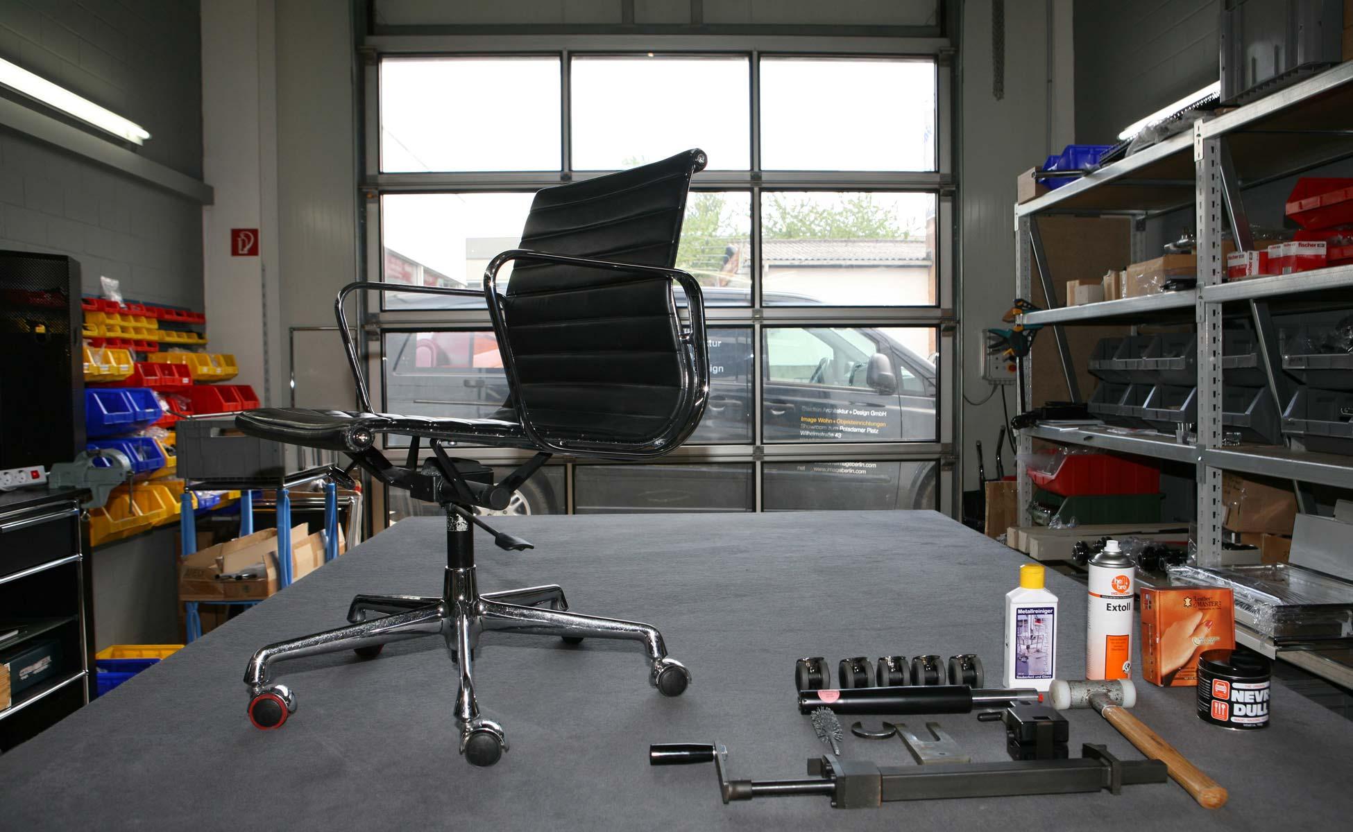 vitra ersatzteilservice und reparatur eames alu chair berlin