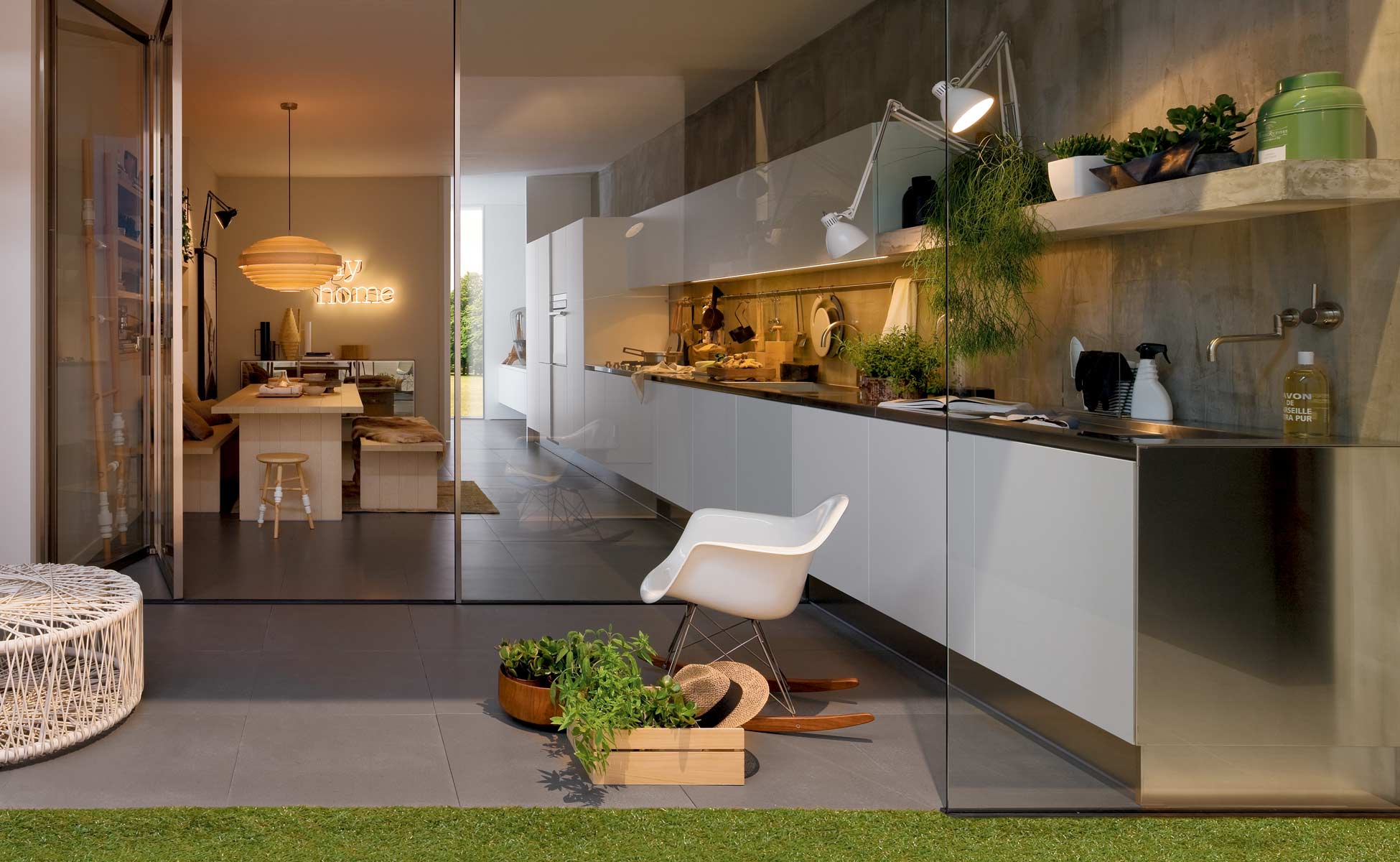 arclinea k chen in berlin steidten einrichten mit. Black Bedroom Furniture Sets. Home Design Ideas