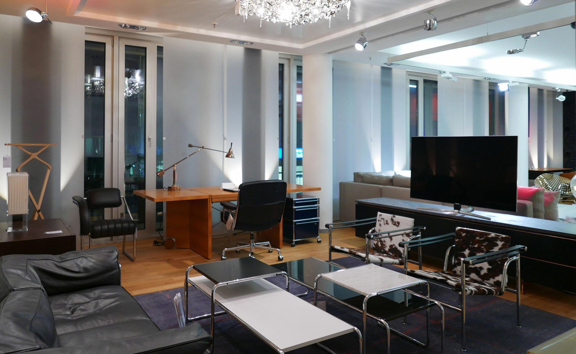 cassina + interlübke + knoll international im steidten+ showroom in berlin