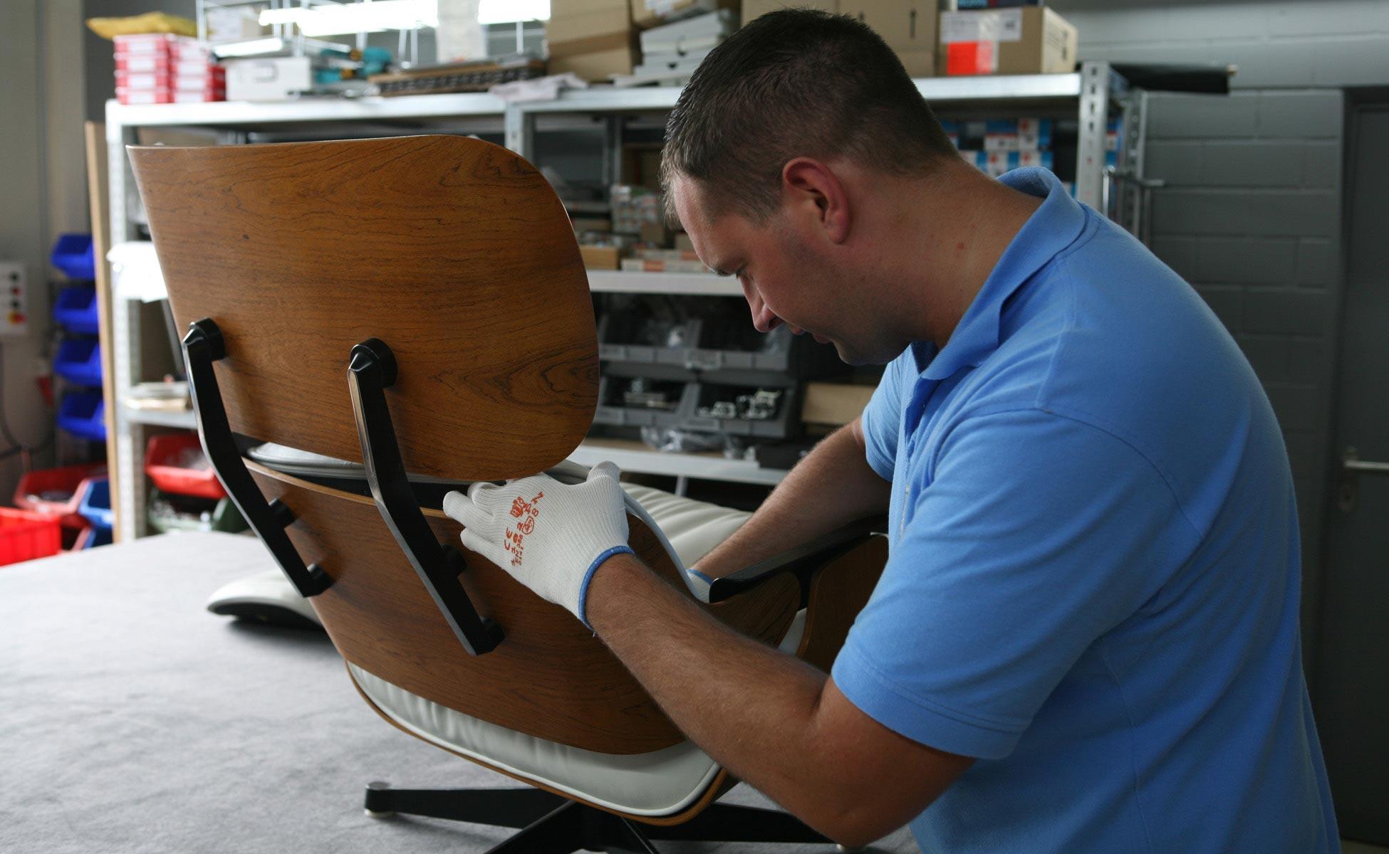 reparatur vitra eames lounge chair ersatzteile in berlin