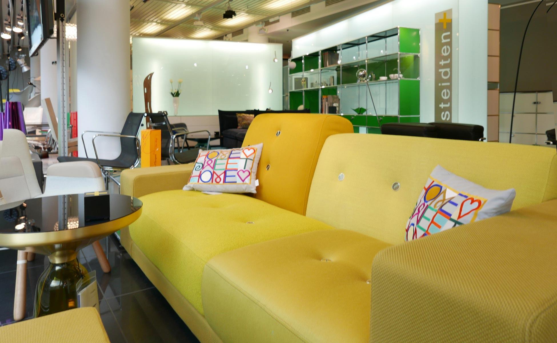 vitra polder sofa im steidten+ showroom in berlin