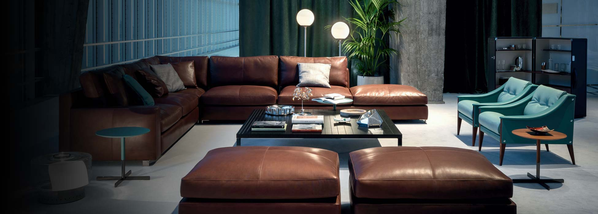 poltrona frau massimosistema sofa bei steidten+ berlin