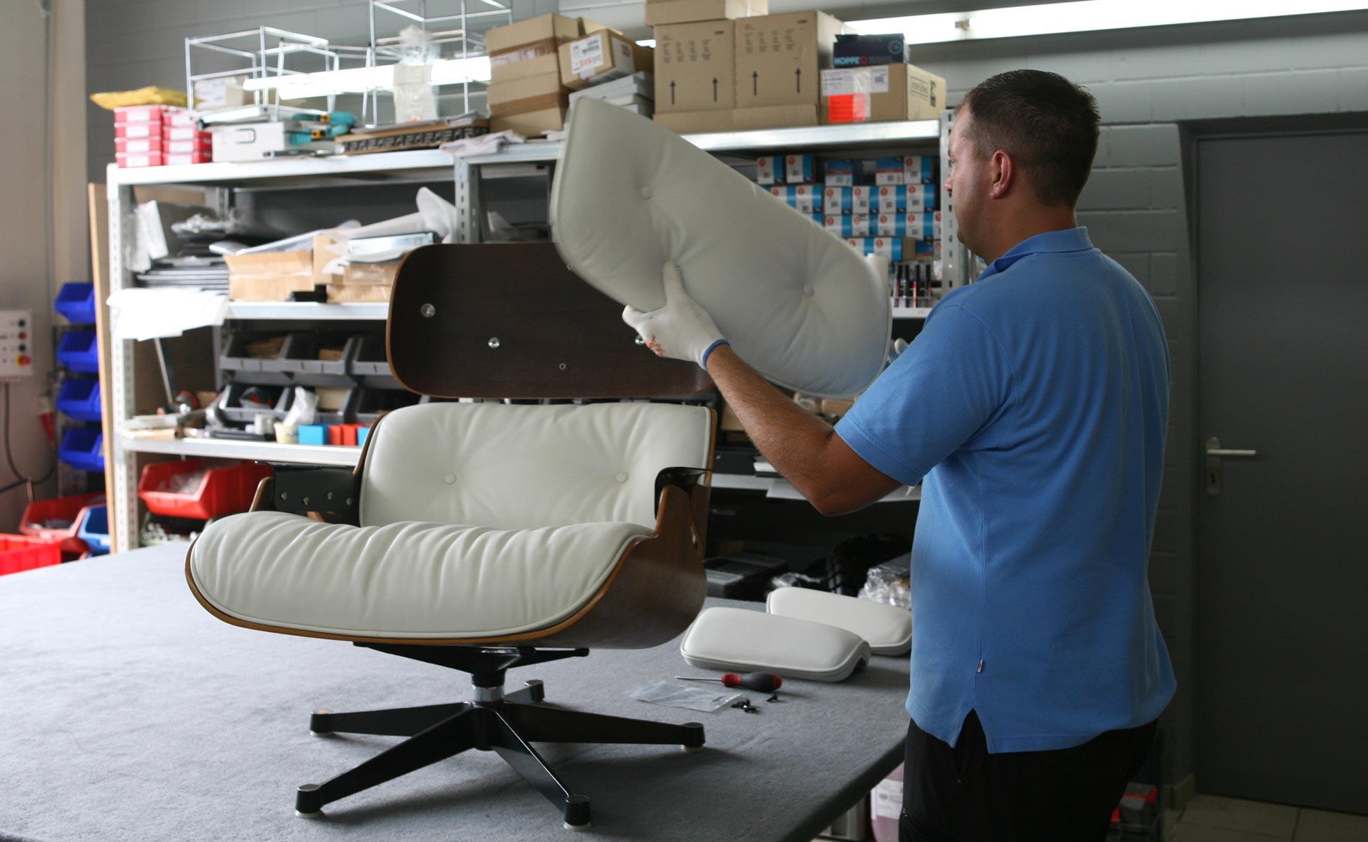 restauration vitra eames lounge chair ersatzteile in berlin