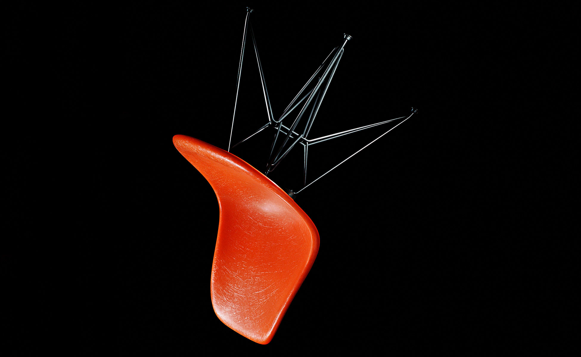 vitra eames fiberglass chair berlin steidten+ red-orange_rod-base