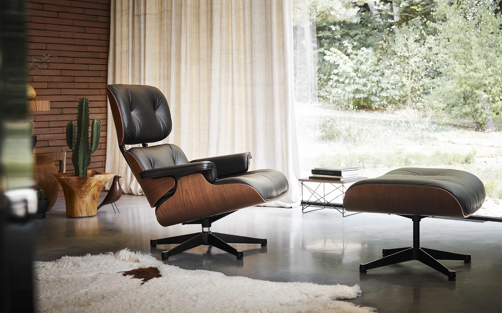 vitra lounge chair mahagoni in berlin bei steidten+