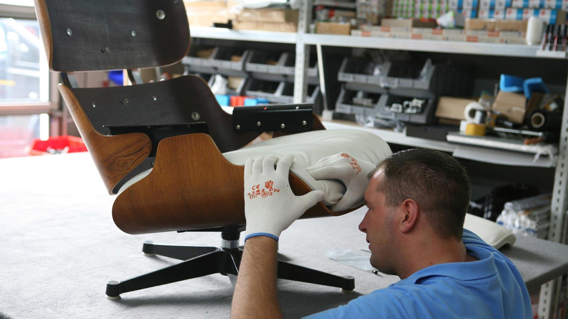 Reparatur Vitra Eames Lounge Chair Ersatzteile in Berlin bei steiden+02