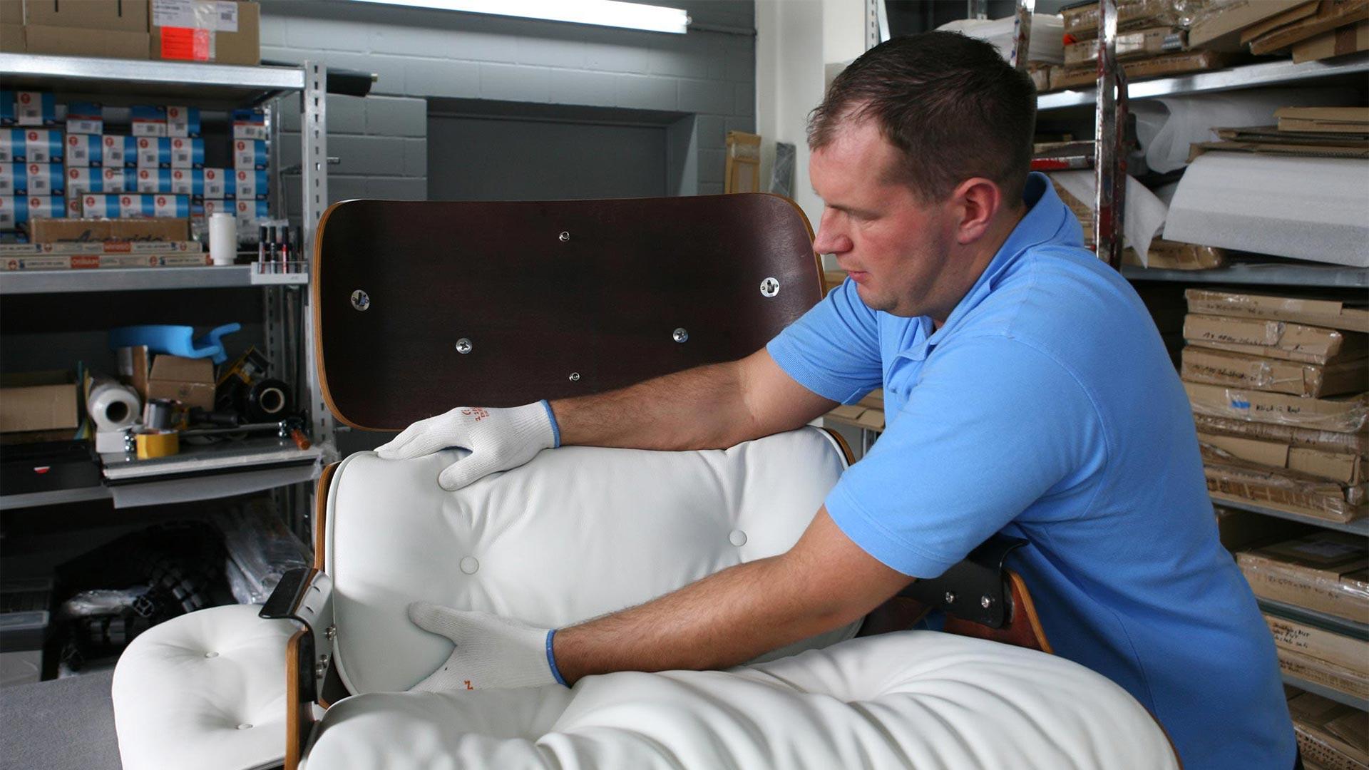 Reparatur Vitra Eames Lounge Chair Ersatzteile in Berlin bei steiden+04