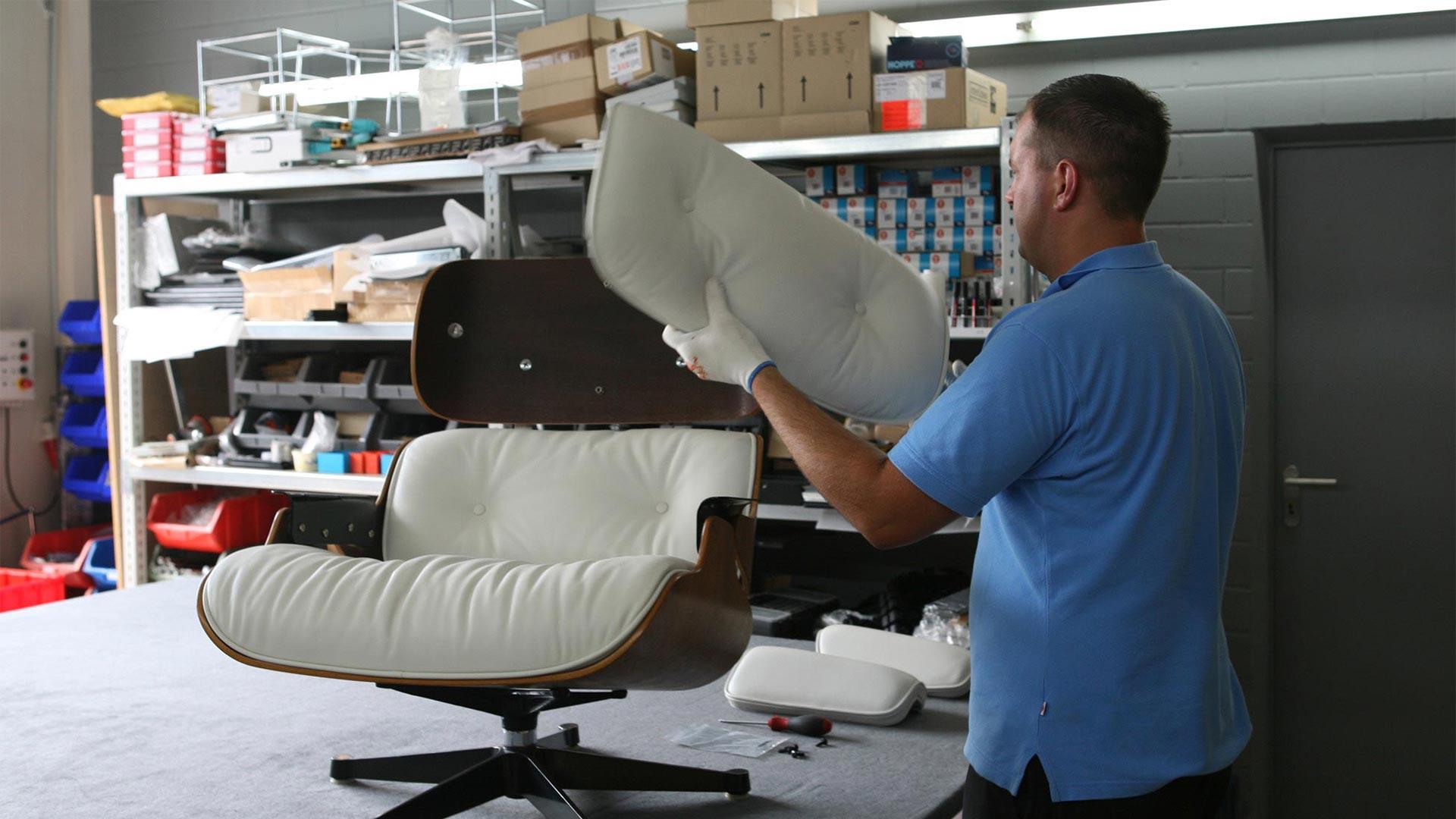 Reparatur Vitra Eames Lounge Chair Ersatzteile in Berlin bei steiden+05