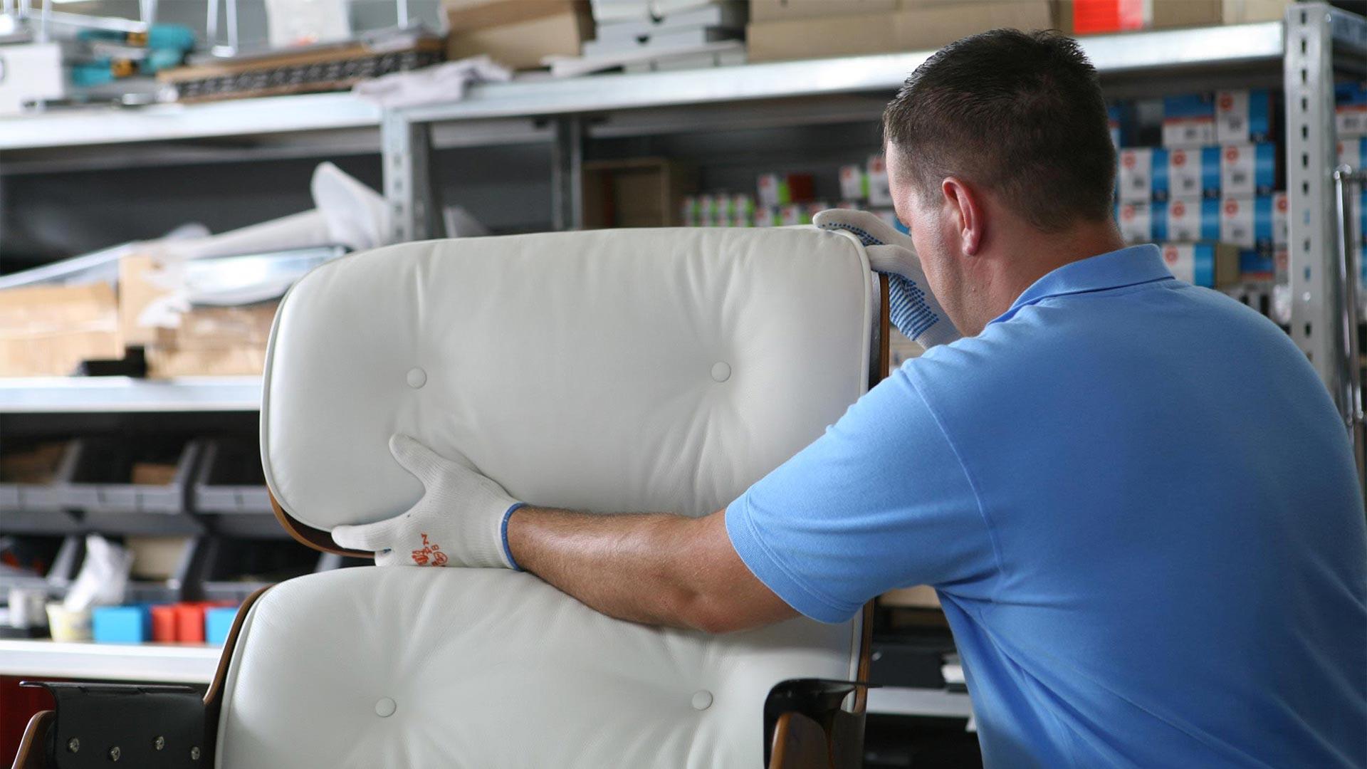Reparatur Vitra Eames Lounge Chair Ersatzteile in Berlin bei steiden+06
